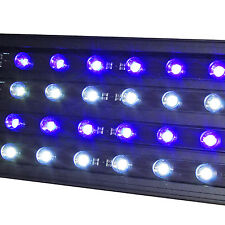 "SE Quad 18"" Timer LED Aquarium Light Marine Reef FOWLR Cichlid 24x 3W LEDs 45 cm"