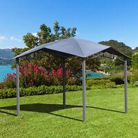 9.8' Outdoor Patio Gazebo Pavilion Canopy Tent Steel- Grey