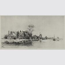 Philip Zilcken. Dorf am Wasser. Photogravure um 1890