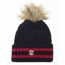 Superdry Womens Aimee Stripe Ribbed Beanie - Navy *same Day Dispatch*