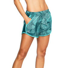 Under Armour UA HeatGear Fly By Printed Tropical Green Sports Running Shorts