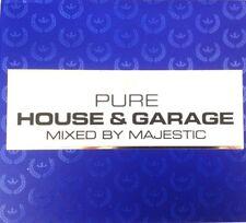 PURE HOUSE & GARAGE CD - MIXED BY MAJESTIC 3 X CDS UK GARAGE UKG & HOUSE CDJ DJ