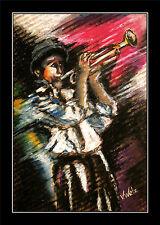 Trompeter ARTPRINT Kollektion Volker Welz Jazz Big Band Concert Spielmannzug AK