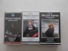 MYLENE FARMER LOT DE 3 VHS LES CLIPS VOLUME I / II / III BE/TBE  lot1