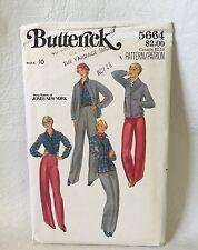Butterick sewing Pattern 5664 Size 10 UNCUT Misses Shirt Jacket Pants