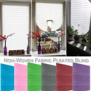 Self-Adhesive Pleated Blind Half Window Shade White Blackout Bathroom Curtains