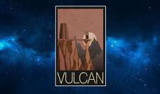 Vulcan Retro Travel Poster Fridge Magnet NEW Inspired by Star Trek, Art Deco