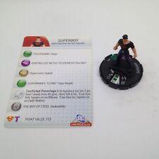 Heroclix DC75th Anniversary set Superboy #026 Uncommon figure w/card!