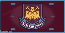 WEST HAM UNITED FC FOOTBALL SOCCER LICENSE PLATE, 6X12 inches Standard US plate