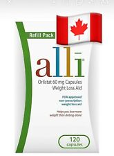 Alli Weight Loss Diet Pills, Refill Pack 120 Count FREE SHIPPING CANADA NO FEES
