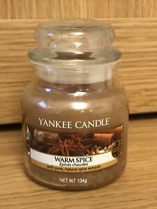 Yankee Candle - WARM SPICE Small 104g Jar - Brand New