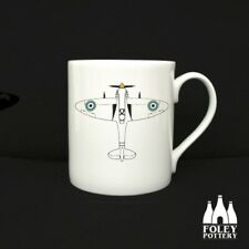 AP: Spitfire, aeroplane, RAF, Plane,  Fine Bone China: Mug By Foley Pottery