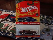 2004 Hot Wheels Classics 1971 Plymouth GTX 440 Special Limited Edition Series 1