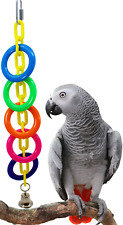 848 BIG RING CHAIN BIRD TOY parrot cage craft toys african grey amazon conure