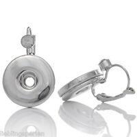 3Paar Ohranhänger Ohrschmuck Ohrstecker für Druckknopf Druckknöpfe Buttons