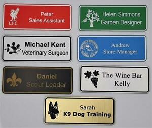 Engraved Personalised staff name badges, shop clubs pub school office with logo
