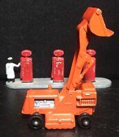 VTG '62 Diecast LESNEY MATCHBOX Orange Drott Excavator Silver Base No.58B (BPW)