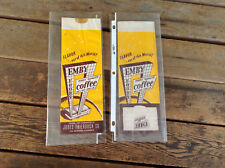 2 Vintage Emby Coffee 1 LB Paper Coffee Bags