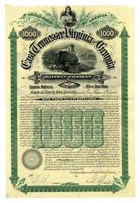 East Tennessee, Virginia and Georgia Railway Co.,1890 I/U Gold Bond Fine
