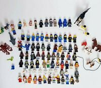 Lego Minifigures Bulk Lot 87 x Figures and Accessories 383 Grams Free Post