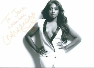 Alexandra Burke Signed Picture Card 5x3