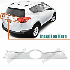 Accessory Chrome Rear Trunk Molding Cover Trim For Toyota RAV4 2013 2014 2015