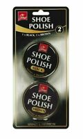 2 x Tins of Jump Black & Brown | New Shoes Shine Cheap Tins Black Brown Polish