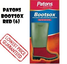 PATONS BOOTSOX RED SIZE 6/39