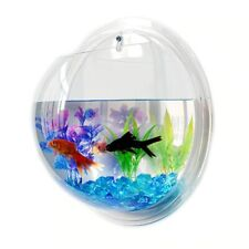 15 cm Bowl Wall mounted Hanging Aquarium Fish Tank Home plant art decoration