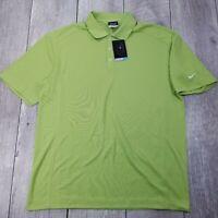 Nike Golf Dri-Fit Polo Shirt Mens Large Green Performance Short Sleeve P228