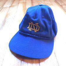 Atexace Vintage Blue Norte Dame Adjustable Hat Cap Usa