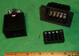 Cinch USA 15 Pin Male & Female Matching Plug and Socket (Pat. 2980881) NOS