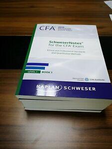 2019 Kaplan Schweser CFA Notes for 2019 June Dec Level 1 Exams (SchweserNotes)