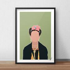 Frida Kahlo INSPIRED WALL ART Print / Poster A4 A3 Surrealism painter panting