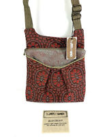 Maruca Handbag Crossbody Bag Busy Body Floral Red Purse Made In USA Brand New