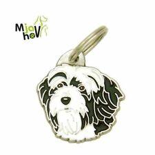 Dog name ID Tag, Tibetan terrier, Personalised, Engraved, Handmade