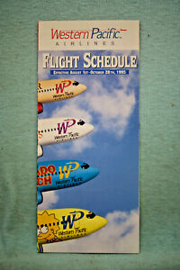 Western Pacific Airlines Timetable, Aug 1 - Oct 28, 1995