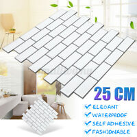 3D Self Adhesive Wall Tiles Pattern Wall Stickers Kitchen Bathroom Home Decor