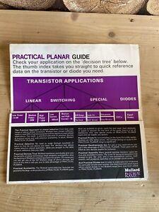 1969 MULLARD TRANSISTOR / DIODE GUIDE APLICATION PLANNER - L200