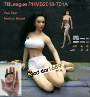 "Phicen 1/12 Female Doll Body Pale Figure Model Toy 6"" TBLeague PHMB2018-T01A"