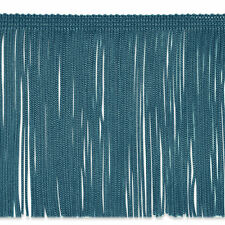 "By the Yard 6"" TEAL Chainette Fabric Fringe Lampshade Lamp Costume Trim"
