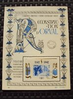 Belgium 1942 Orval Abbey 'bloc 19' on french commemorative sheet numbered 17395