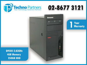 LENOVO ThinkStation M58 MT M7484 CORE2QUAD Q9505 2.83GHz 4GB 250GB Win7 Warranty