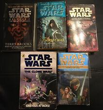 Star Wars Books Bulk Lot of 5 - all paperbacks