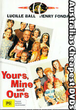 Yours, Mine And Ours  DVD NEW, FREE POSTAGE WITHIN AUSTRALIA REGION ALL