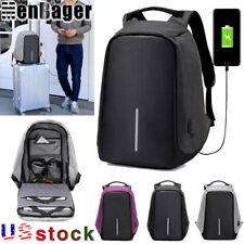 Men's multifunctional Anti-Theft Backpack Laptop Travel USB Charging School Bag
