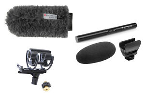 Sennheiser MKE600 Shotgun Microphone Kit W/ Rycote Softie & Rycote Shock Mount