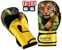 ISLERO Kids GEL Boxing Gloves MMA Punch Bag Muay Thai Martial arts Training Deal