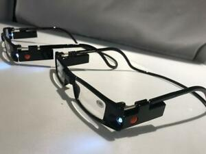 2 Pair Reading Glasses with LED light  Strength +1.00-4.00