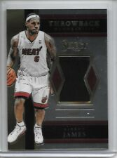 2017-18 Panini Select LEBRON JAMES THROWBACK JERSEY MIAMI HEAT!!